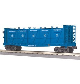 MTH - Rugged Rails 3076567	 - 	FLAT CAR WESTINGHOUSE W/BULK