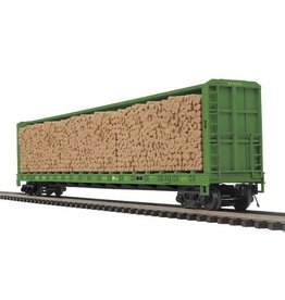 MTH - Premier 2098849	 - 	FLAT CENTER BEAM W/LOGS BN