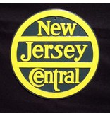 CUSTOM 26250	 - 	NEW JERSEY CENTRAL Railroad Builder Emblem Plate - COLOR VARIATIONS