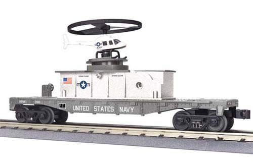 MTH - RailKing 3079339	 - 	FLAT W HELICOPTER U.S.NAVY