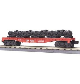MTH - RailKing 30-7009D	 - 	FLAT W ROLLING STOCK TRUCKS