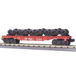 MTH - RailKing 30-7009D - FLAT W ROLLING STOCK TRUCKS