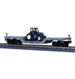 MTH - RailKing 307611 - FLAT W/2 CONSTRUCTION TRACTORS