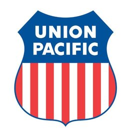 CUSTOM 26295	 - 	UNION PACIFIC SHIELD Builders Plaque Railroad Emblem 16""
