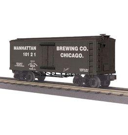 MTH - RailKing 3078045 - 19th Century Reefer Car - Manhattan Brewing Company Car