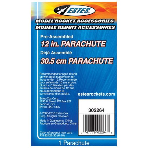 ESTES 2264 - ROCKET 12 Inch, PRINTED PARACHUTE