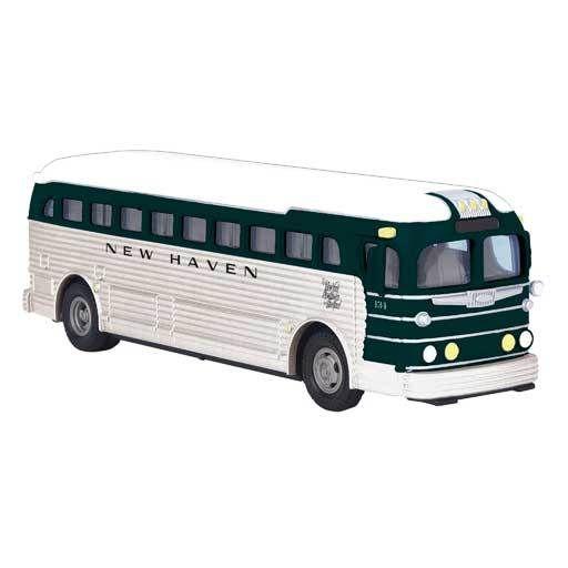 MTH - RailKing 3050058 -  BUS DIE CAST NEW HAVEN