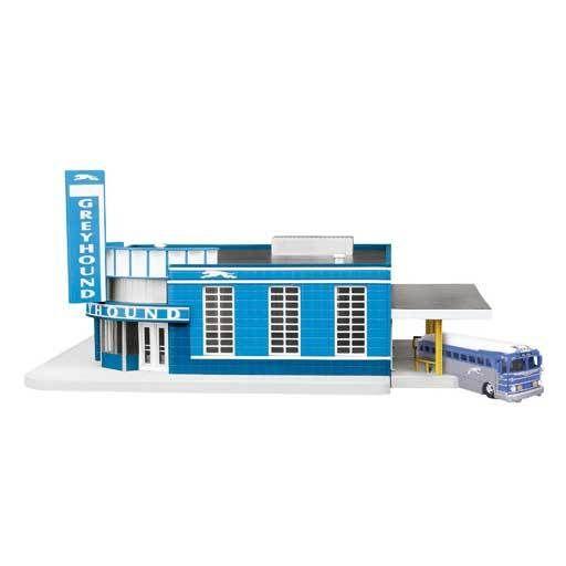 MTH - RailKing 309040 - BUS STATION Greyhound
