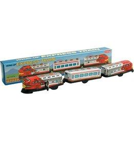 Schylling 2096 - 3 CAR TRAIN - TIN TOY - WIND-UP