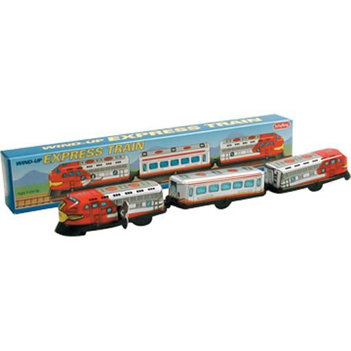 Schylling 2096	 - 	3 CAR TRAIN - TIN TOY - WIND-UP