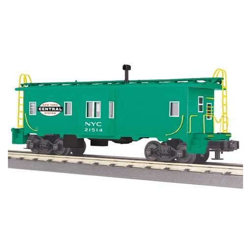 O SCALE PENN FOR NYC ENGINE ✅K-LINE SMOKING NEW YORK CENTRAL BAY WINDOW CABOOSE