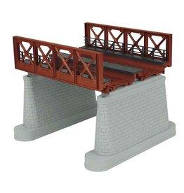 "MTH - RailKing 401110 - O 2-Track Bridge Girder - Rust - Under Bridge Clearance 5 3/4"""