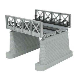MTH - RailKing 401108 - GIRDER BRIDGE SILVER 2 TRACK