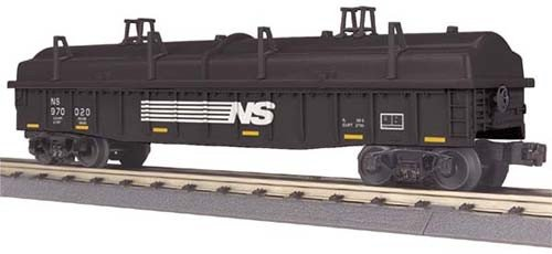 MTH - RailKing 3072088	 - 	GONDOLA W/COVERS NORKFOLK & WES