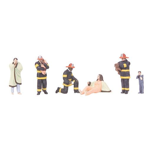 MTH - RailKing 3011060	 - 	6-Piece Figure Set FIRE SCENE