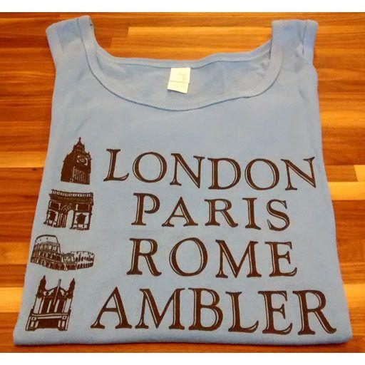 Choo Choo's GRAY - SMALL - London, Paris, Rome, Ambler Tank Top