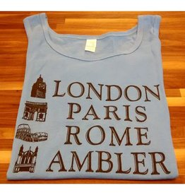 Choo Choo's GRAY - LARGE - London, Paris, Rome, Ambler Tank Top