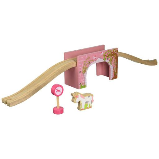 Big Jig Toys PINK ARCHED BRIDGE