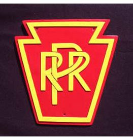 CUSTOM 26236	 - 	P.R.R. KEYSTONE RailRoad Emblem Plate - COLOR VARIATIONS