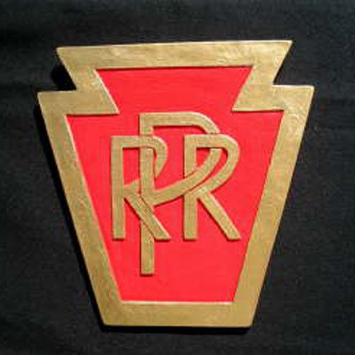 CUSTOM 26236 - P.R.R. KEYSTONE RailRoad Emblem Plate - COLOR VARIATIONS