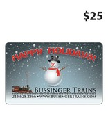 Bussinger Trains $25 Gift Card