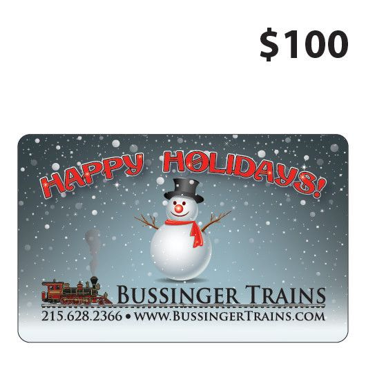Bussinger Trains $100 Gift Card