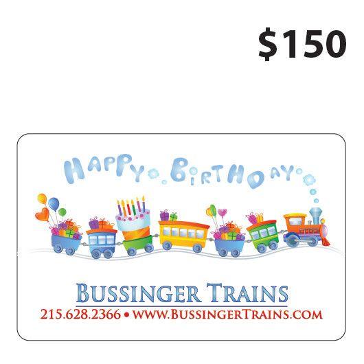 Bussinger Trains $150 Gift Card