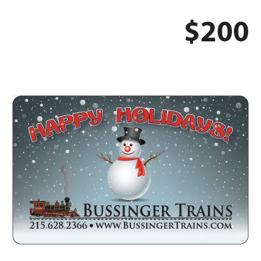 Bussinger Trains $200 Gift Card