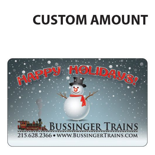Bussinger Trains Custom Gift Card