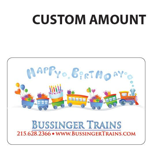 Bussinger Trains Custom Gift Card