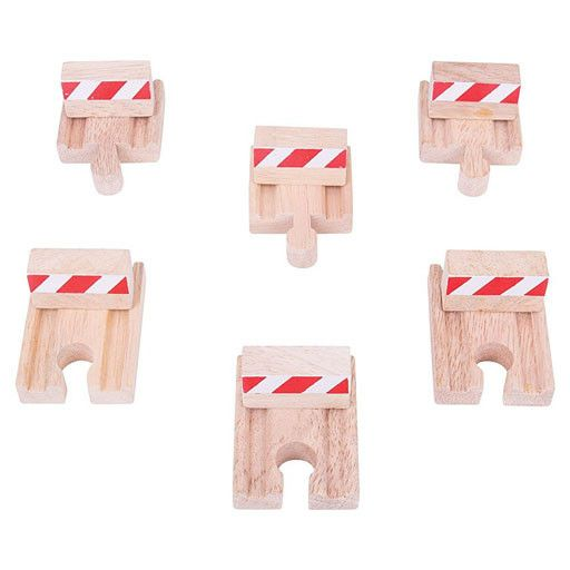 Big Jig Toys BUFFERS SET - Wooden Track