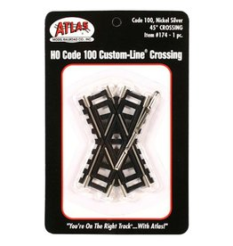 ATLAS 174	 - 	HO 45 DEGREE CROSSING