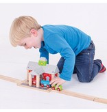 Big Jig Toys RAILWAY STATION - WOODEN TRAIN ACCESSORY