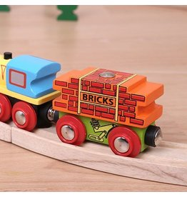 Big Jig Toys BRICK WAGON - WOODEN TRAIN CAR