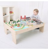 Big Jig Toys CITY TRAIN SET & TABLE - WOODEN PLAYSET