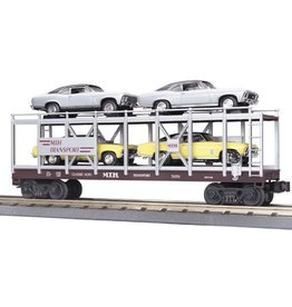 MTH - RailKing 307694	 - 	Auto Carrier Flat Car w/ Chevy