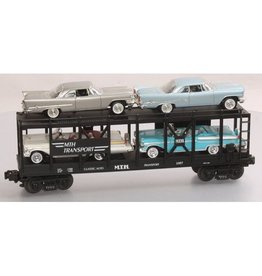 MTH - RailKing 307676	 - 	Auto Carrier W/CHRYSLER & MERCS