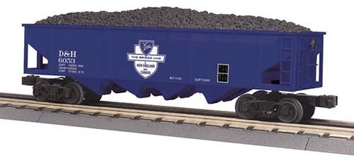 MTH - RailKing 3075439	 - 	HOPPER DELAWARE & HUDSON 4 bay