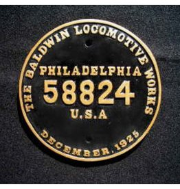 CUSTOM 26203	 - 	BALDWIN BUILDER PLATE - #58824