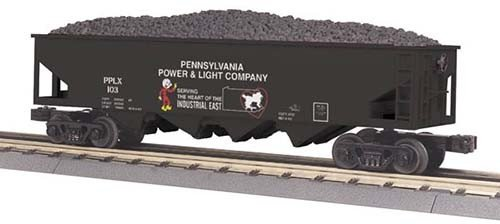 MTH - RailKing 3079381	 - 	HOPPER PP&L W/OPERATING COAL