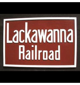 CUSTOM 26268	 - 	LACKAWKNNA Railroad Builder Emblem Plate - COLOR VARIATIONS