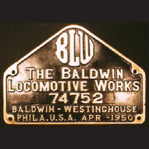 CUSTOM 26202	 - 	Baldwin Locomotive Works Builder Plate