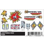 326 - PINECAR DECAL LIGHTNING ROD