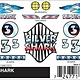 325 - PINECAR DECALS SILVER SHARK