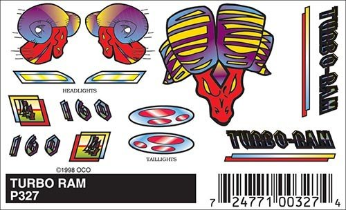 327 - PINECAR DECALS TURBO RAM