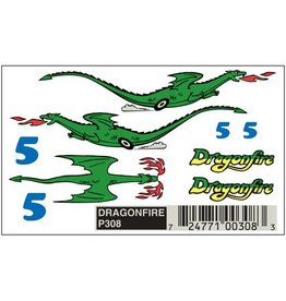 PINECAR 308 - PINECAR DRAGONFIRE DECALS