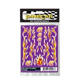 PINECAR 4008 - DECALS BLAZIN' FLAMES