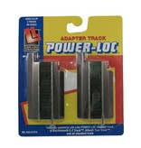 LIFE-LIKE 21314 - HO Power-Loc Track, Steel, Power-Link Adapter Package of 2