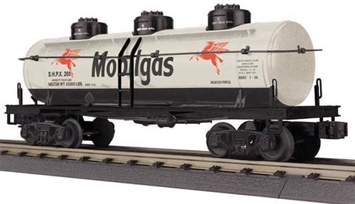 MTH - RailKing 3073419	 - 	TANK CAR 3-DOME MOBILE
