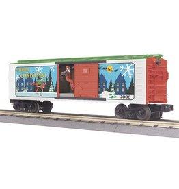 MTH - RailKing 3079141 - BOX CAR CHRISTMAS W/SIGNAL MAN 2006